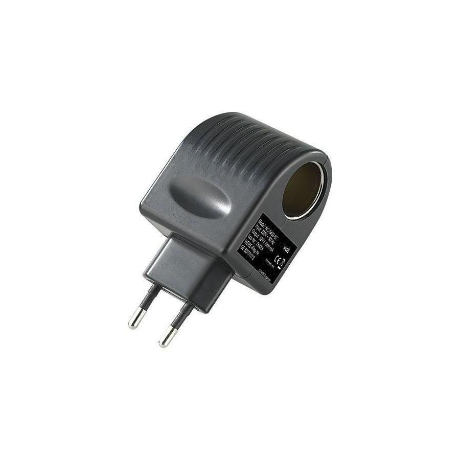 adaptateur transformateur prise de courant 220v allume cigare femelle 12v. Black Bedroom Furniture Sets. Home Design Ideas