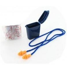 PROTECTIONS AUDITIVES : Ear-Plugs ULTRAFIT (bouchons d'oreille) avec cordon et boite de rangement