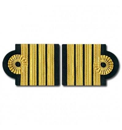 Epaulets. 4 Stripes - Gold - Nelson design