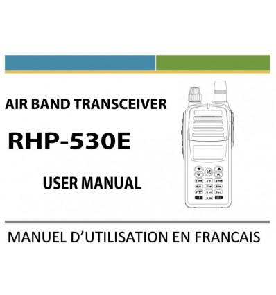 Manuel en Français du REXON RHP-530 NAV-COM Airband Transceiver 8,33Mhz avec VOR surveillance Bi-Bande et Bluetooth (optionnel)