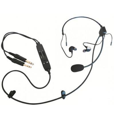 "AVIATION HEADSET ""Classic"" Aerodiscount Intra Auricular CLARIAK-P1"