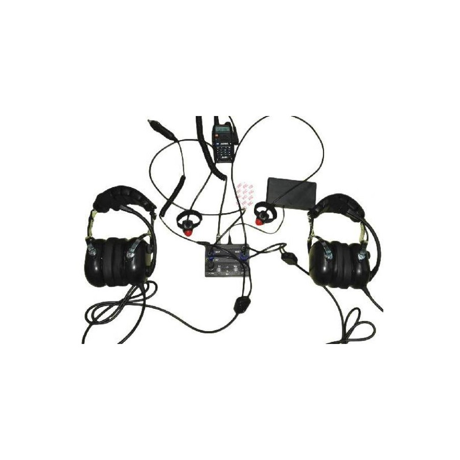 Aviation Intercom 2 Ways For Icom Radio Aircraft Wiring Diagram Pax Kenwood Molded Double Jacks Wire Ptt