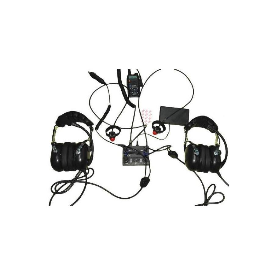 Aviation Intercom 2 Ways For Icom Radio Kenwood Headset Wiring Diagram Pax Molded Double Jacks Wire Ptt