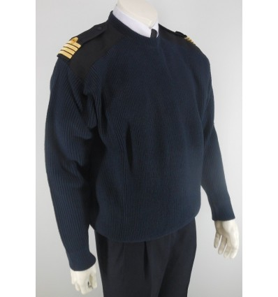 Pull-over Wool Round Neck Long Sleeves for Pilot and Cabin Crew