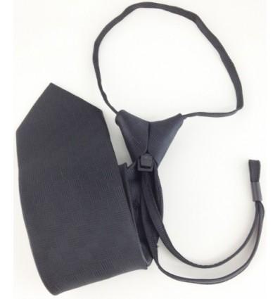 """Cravates Noires à Crochet """"Clip"""" Pilote"""