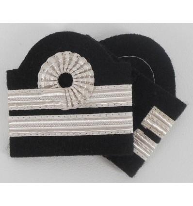 Galons Second Officier Pilote platine avec boucle de Nelson