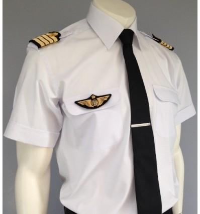 """Chemise pilote """"Blue Collar"""" SLIM FIT Manches Longues ou Courtes"""