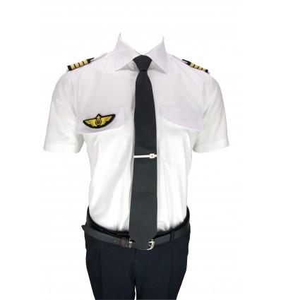 Chemise Pilote 100% coton SLIM FIT Manches Longues ou Courtes