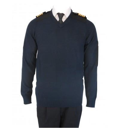 Pull-over Laine Léger Col V manches longues Pilote et Personnel Navigant