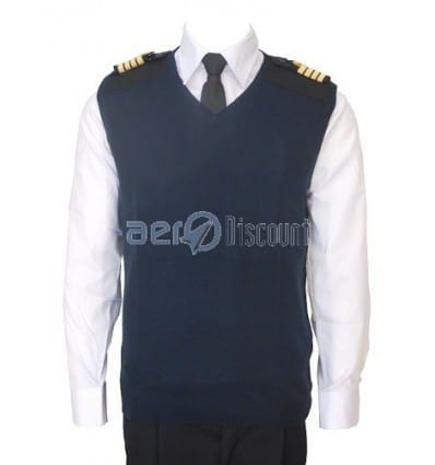 Pull-Over Whool Light V collar Without Sleeves for Pilot and Cabin Crew