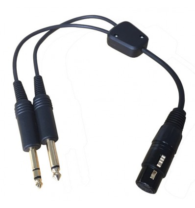 Adapter Airbus® headset to GA General Aviation 2 Male Jacks