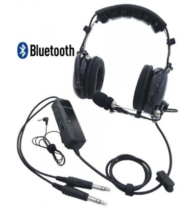 ANR LIGHT CLEAR SPECTRAL Plane HEADSET Bluetooth MP3 Protein Leather Earseals