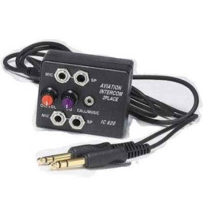 AVIATION INTERCOM 2 ways with Music mix Jack
