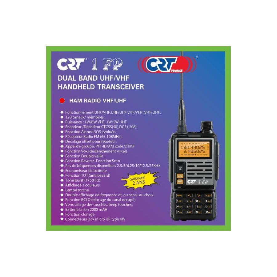 CRT 2 FP (Free Flight) Transceiver bi-band VHF-UHF 119€