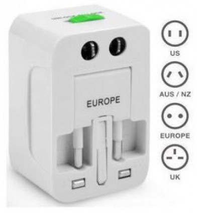 UNIVERSAL TRAVEL ADAPTER for ALL WORLD ELECTRIC PLUGS