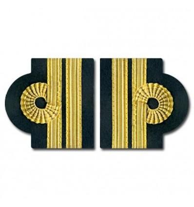 Epaulets 3 Stripes - Golds - Nelson design