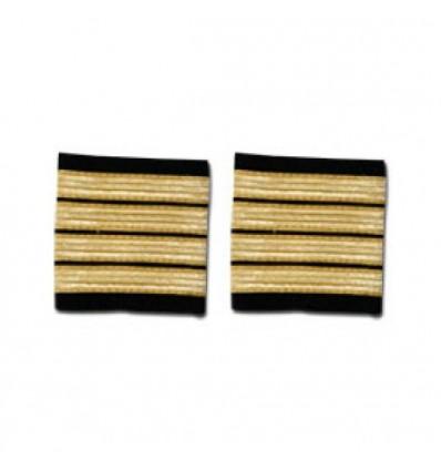 Epaulets 4 stripes - Gold - Classic