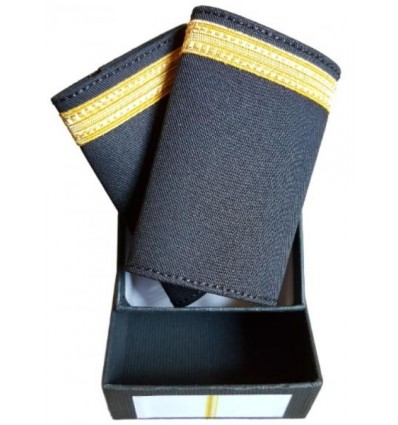 Galons LUXE d'épaules Or 1 Barrette Simples O.P.L. Velcro