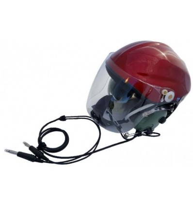 Ultra Light Gyrocopter Paramotor Helmet ANR General Aviation Jacks