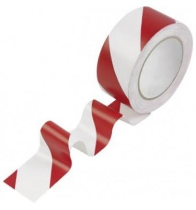 Rouleau de Rubalise Rouge Blanc. 100 m par 50 mm