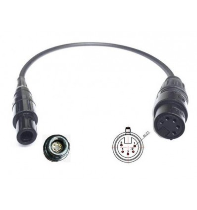 Adapter 6-pin LEMO plug for exemple Bose® A20 Headset to an Airbus® XLR-5 panel