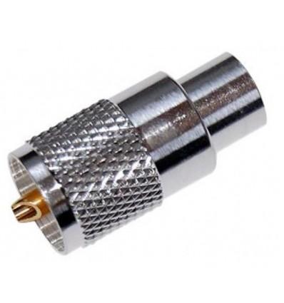 Connecteur PL 259/11 MM POUR CÂBLE RF400, RG213 ET ECOFLEX10 & ULTRAFLEX10