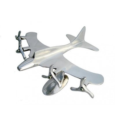 QUADRI ENGINE PLANE in ALUMINIUM for DECORATION