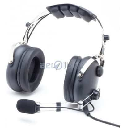 "AVIATION HEADSET ""Classic"" Aerodiscount metal Mike boom"