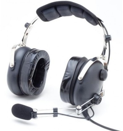 "PILOT HEADSET ""Classic Confort"" Aerodiscount Wire boom DOUBLE GEL EARSEALS"