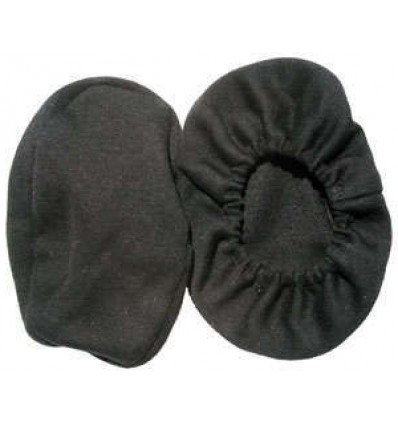 Pair of washable cotton bonnets for airplane earseal headset