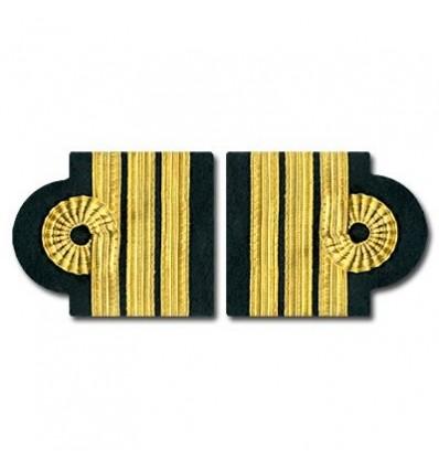 Galons d'épaules O.P.L. 3 Barettes Or Boucle Nelson