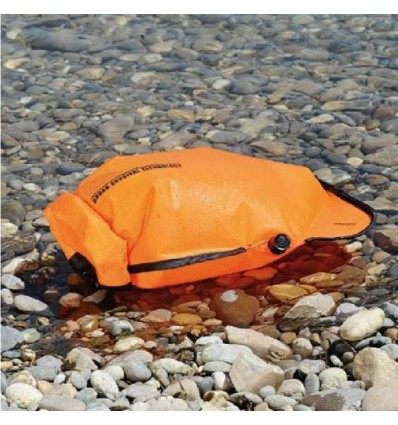 INFLATABLE WATERPROOF BAG FOR GOODS PROTECTION and SURVIVAL USE